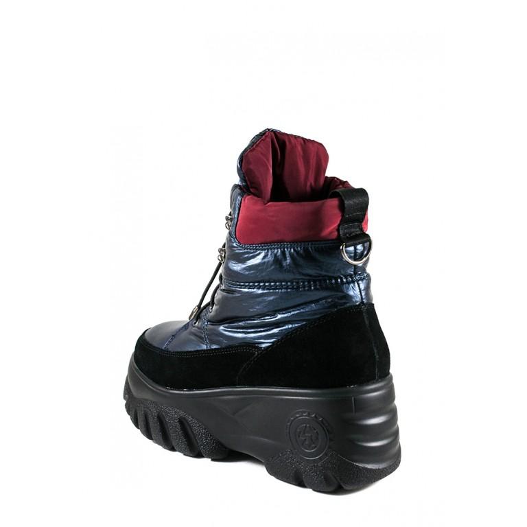Ботинки зимние женские Lonza B102-N700 голубые