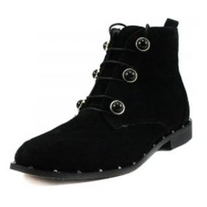 Ботинки демисезон женские Foletti FL230 черная замша