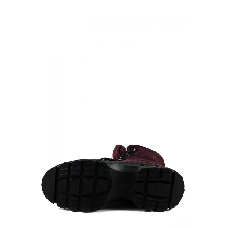 Ботинки зимние женские Prima D'arte 1616-F801-5 бордовые