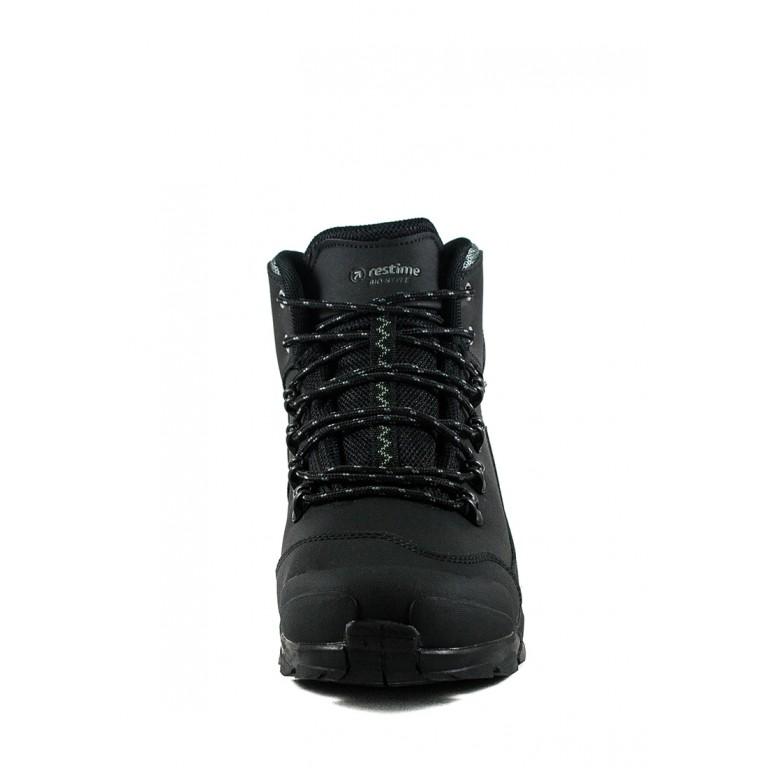 Ботинки зимние мужские Restime PMZ19158 черные