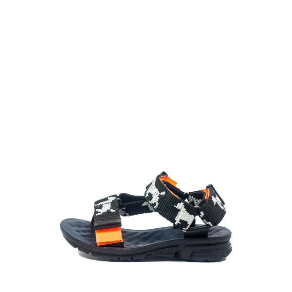 Сандали подростковые TiBet 7 черно-оранжевые