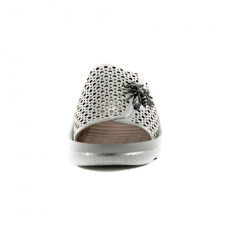 Шлепанцы женские LorisBottega L-1532 белый глянец