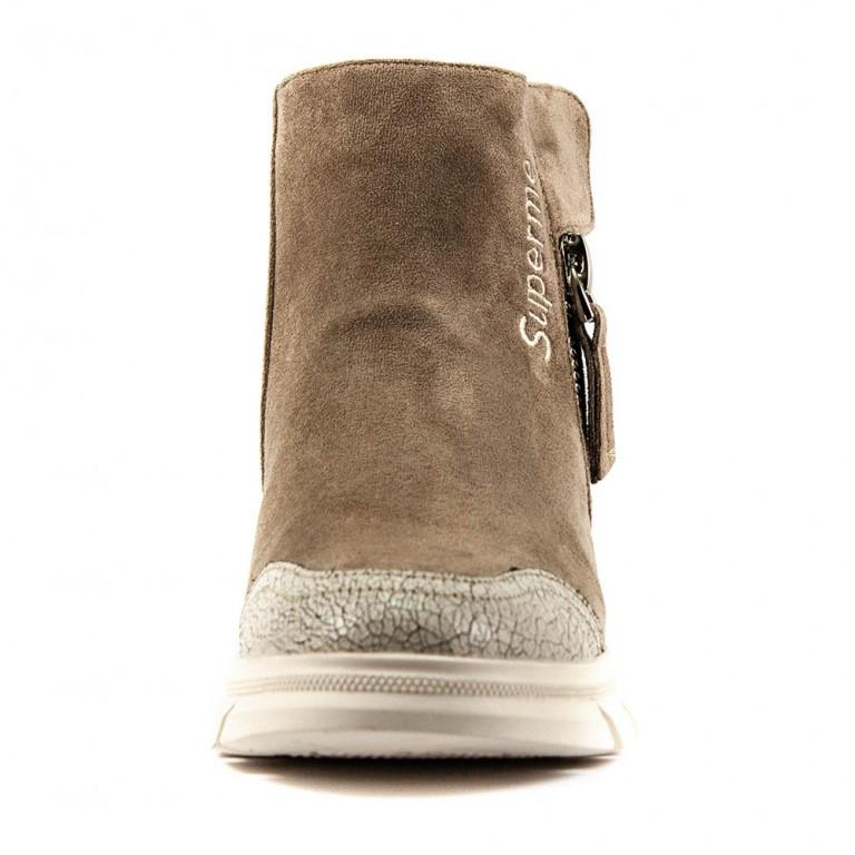 Ботинки демисезон женские Lonza FLM80682 светло-коричневый