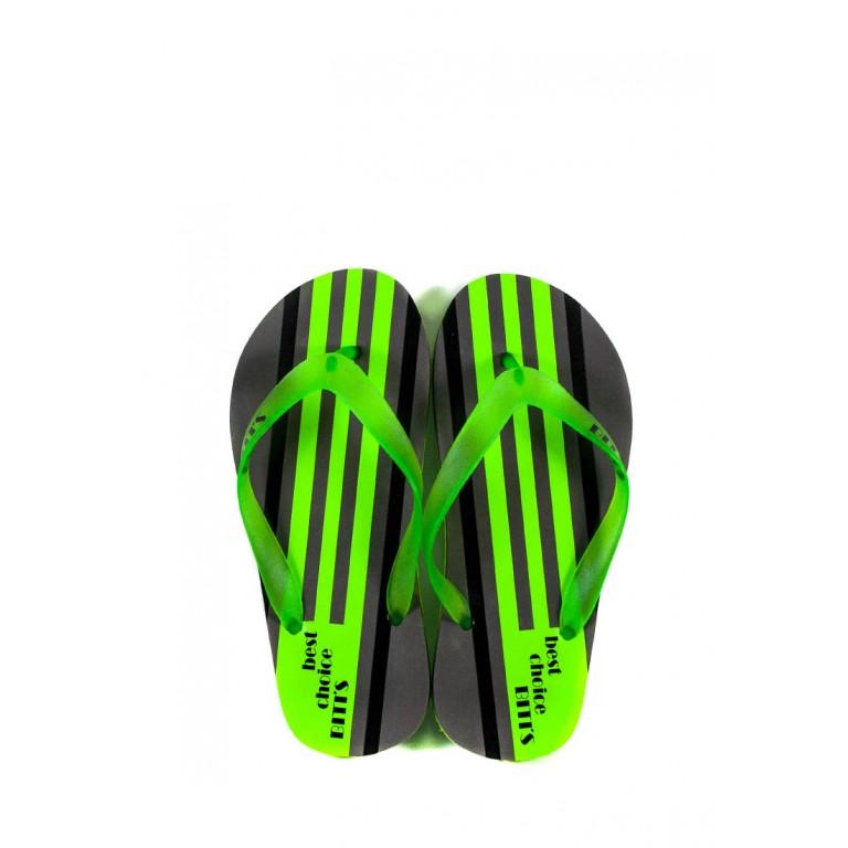 Шлепанцы подростковые 6161-Е серо-зеленые