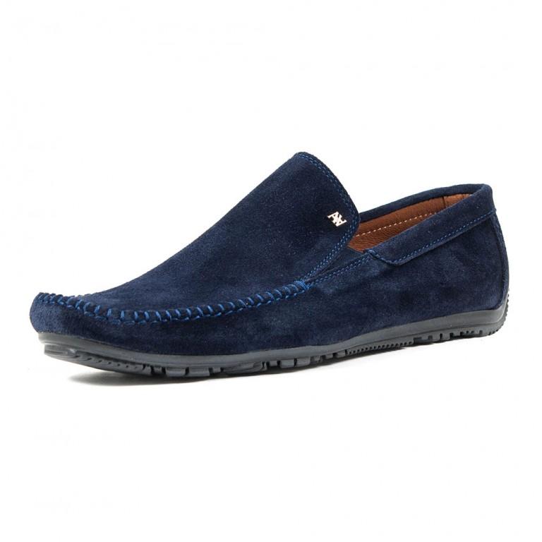 Мокасины мужские Alexandro AO18503 синяя замша
