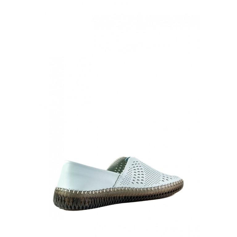 Слипоны женские Allshoes 19111-5K голубые