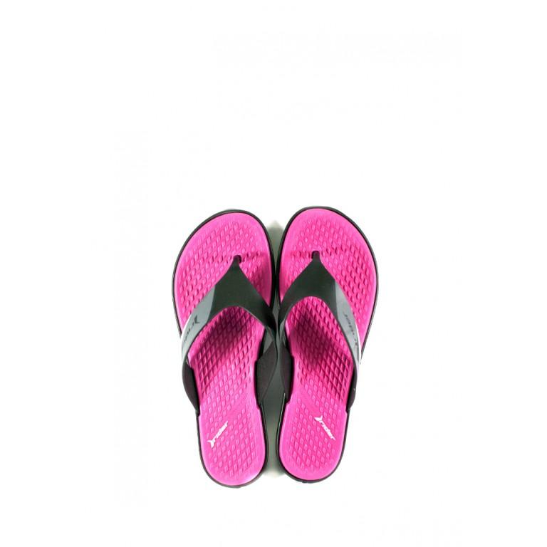Вьетнамки женские Rider 82568-24646 черно-розовые