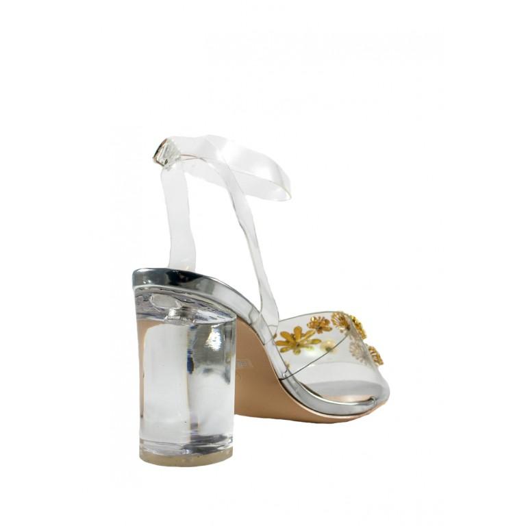 Босоножки женские Sopra СФ PM-10 серебрянные