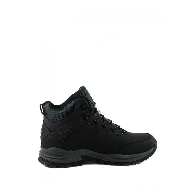 Ботинки зимние мужские Restime PMZ19132 черные