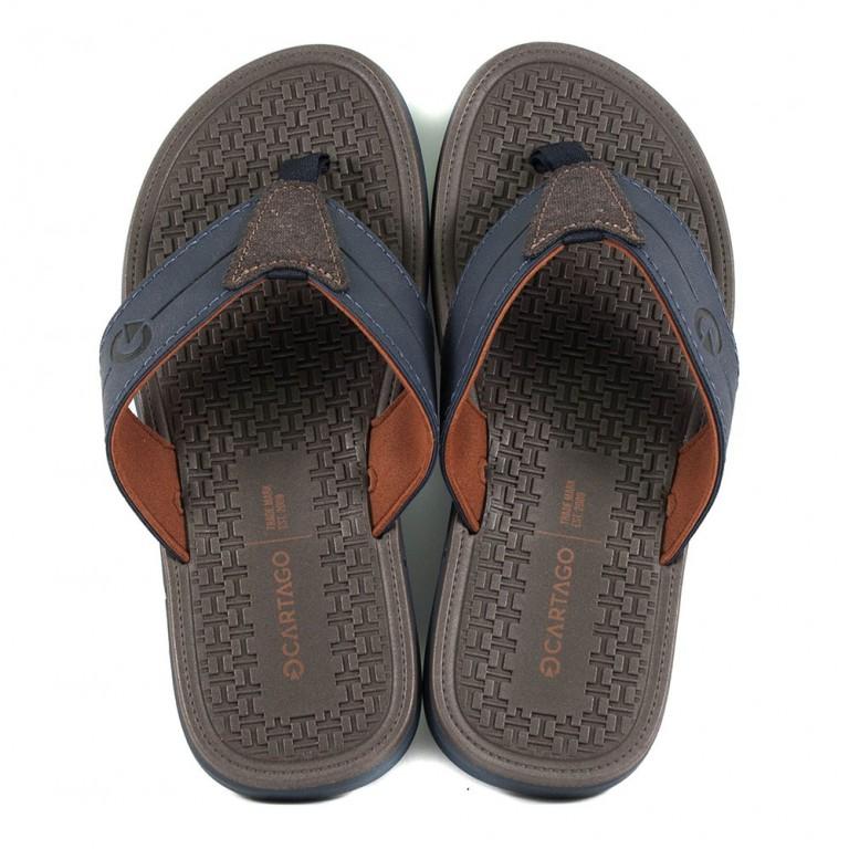 Шлепанцы мужские Cartago 11361-22923 коричнево-синий