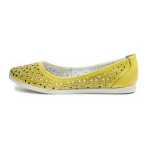 [:ru]Балетки женские SND SDTM1996 желтая кожа[:uk]Балетки жіночі SND жовтий 11390[:]