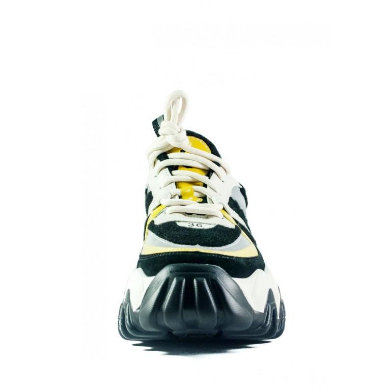 Кроссовки демисезон женские Loris Bottega 320-1 черно-белые