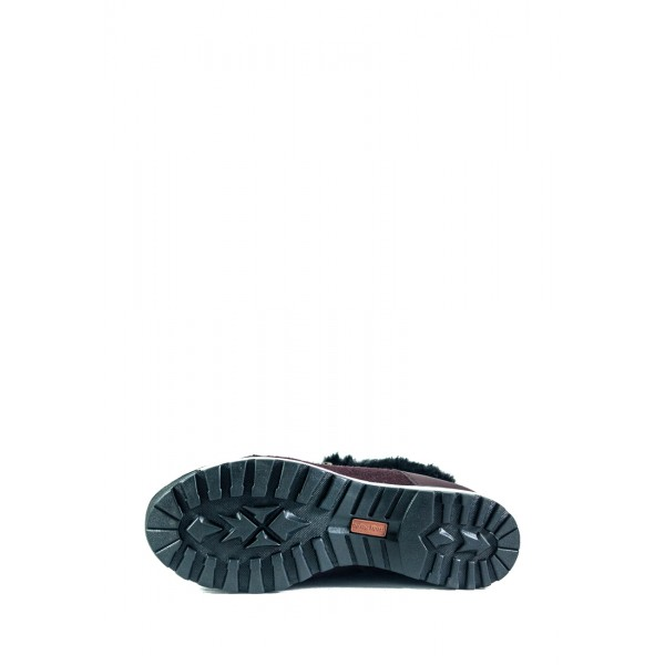 Ботинки зимние женские MIDA 24830-660Ш бордовые