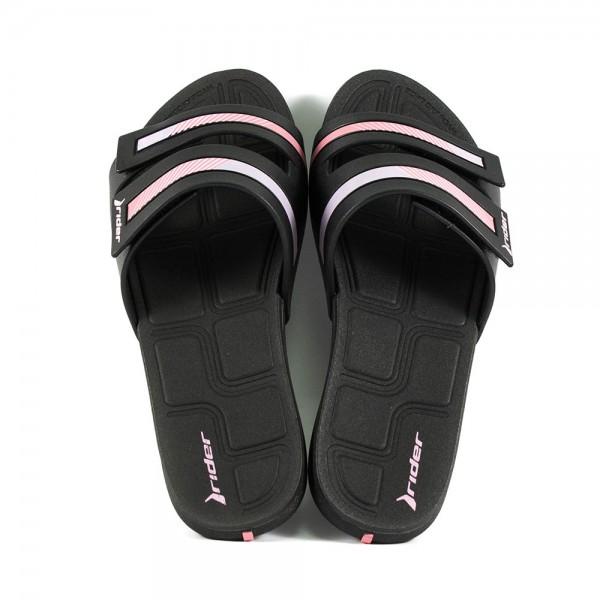 Шлепанцы женские Rider 82503-20880 черно-розовые
