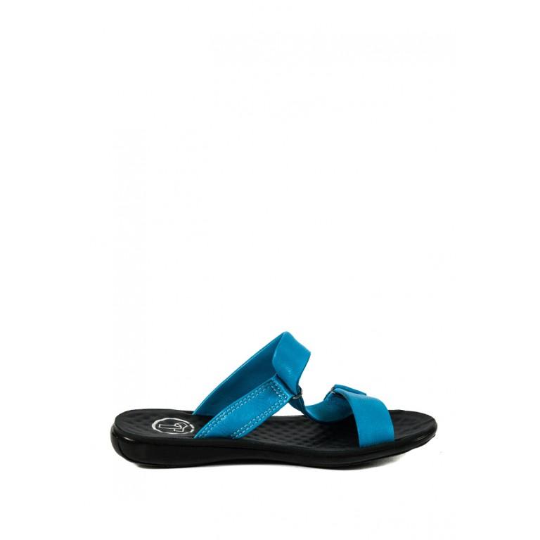 Шлепанцы женские TiBet 240-01-12 голубые