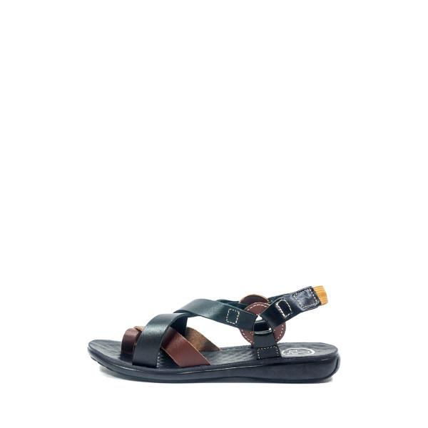 Сандалии женские TiBet 275-03-01-04 черно-коричневые