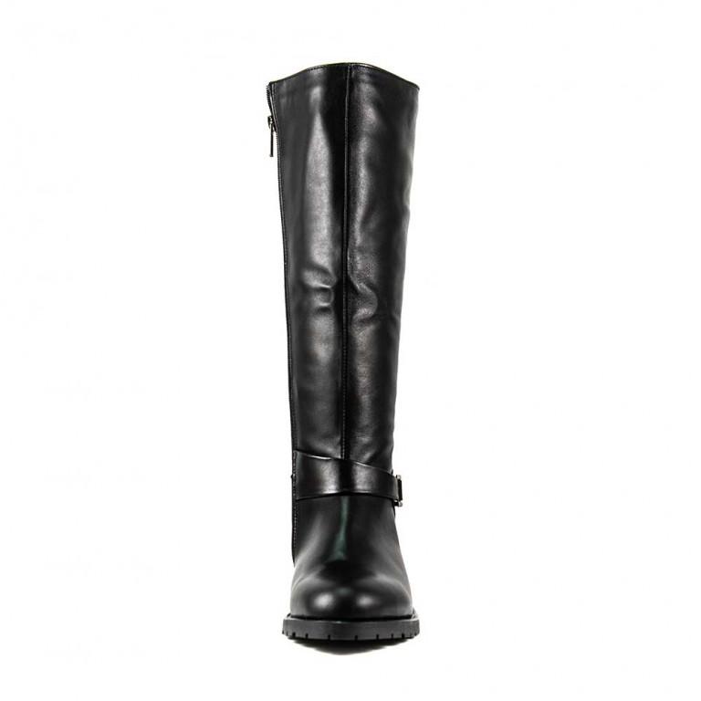 Сапоги зимние женские Lonza L-2555-2283LE черная кожа