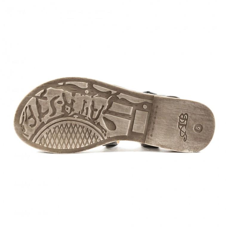 Босоножки женские Sopra СФ M11801 бежево-серебряные