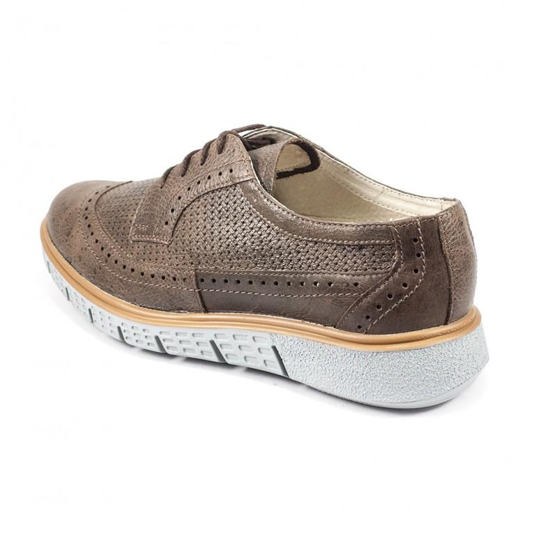 Туфли мужские MIDA 13350-243 коричневая кожа