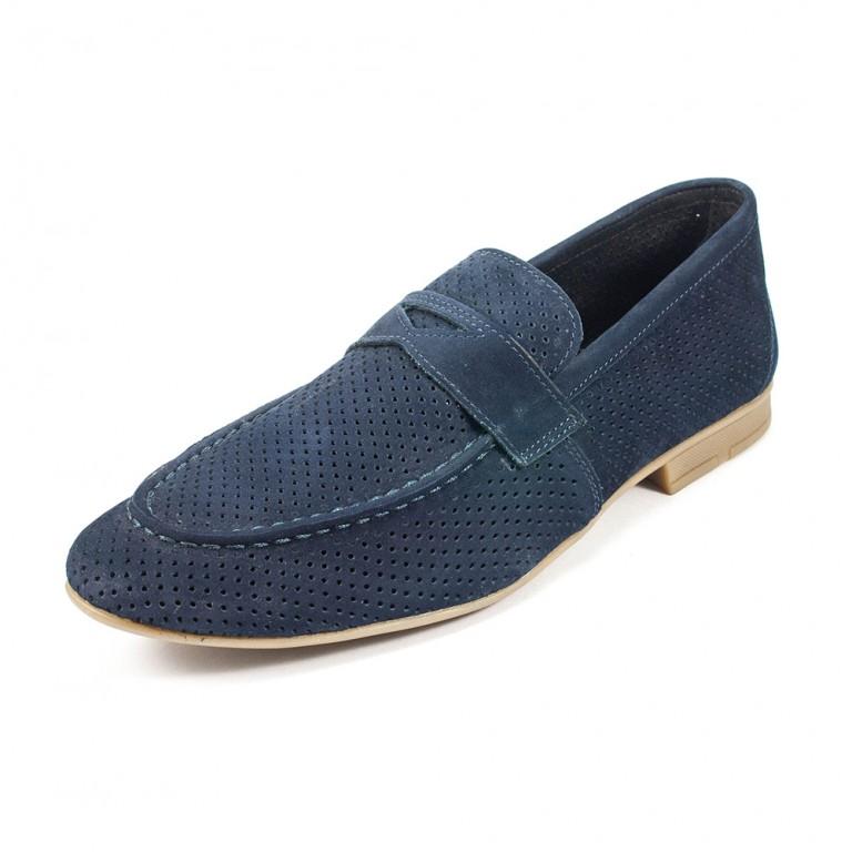 Туфли мужские MIDA 13940-12 синий нубук
