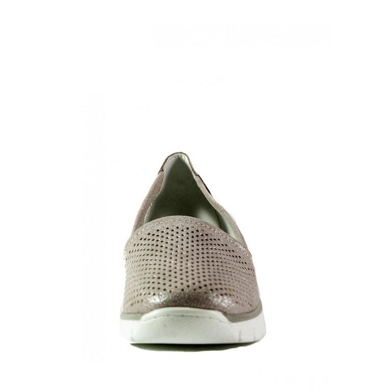 Мокасины женские Allshoes 18185-2K-1 бежевые