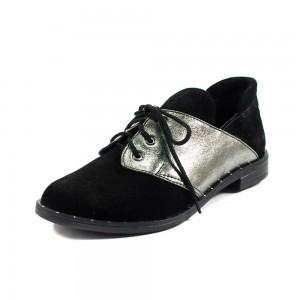 Туфли женские AmeLi AL102 черно-серебрянный