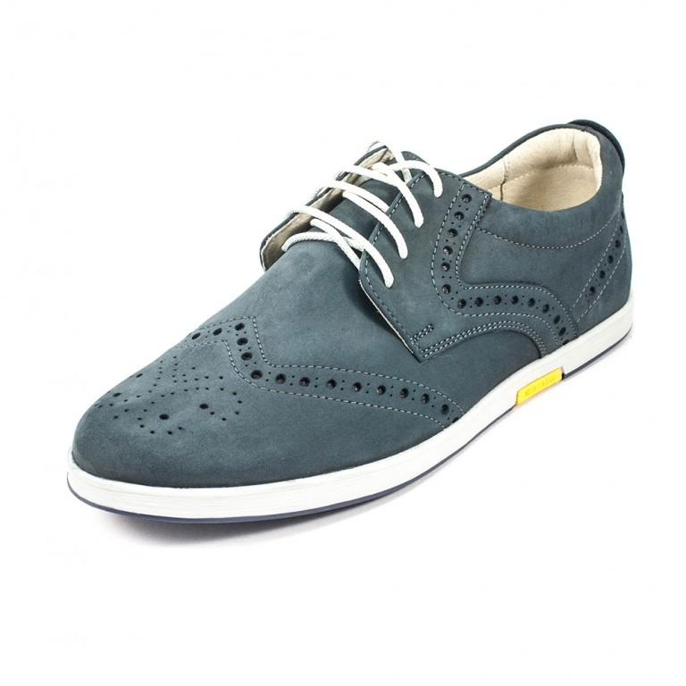 Туфли мужские MIDA 11329-78 серый нубук