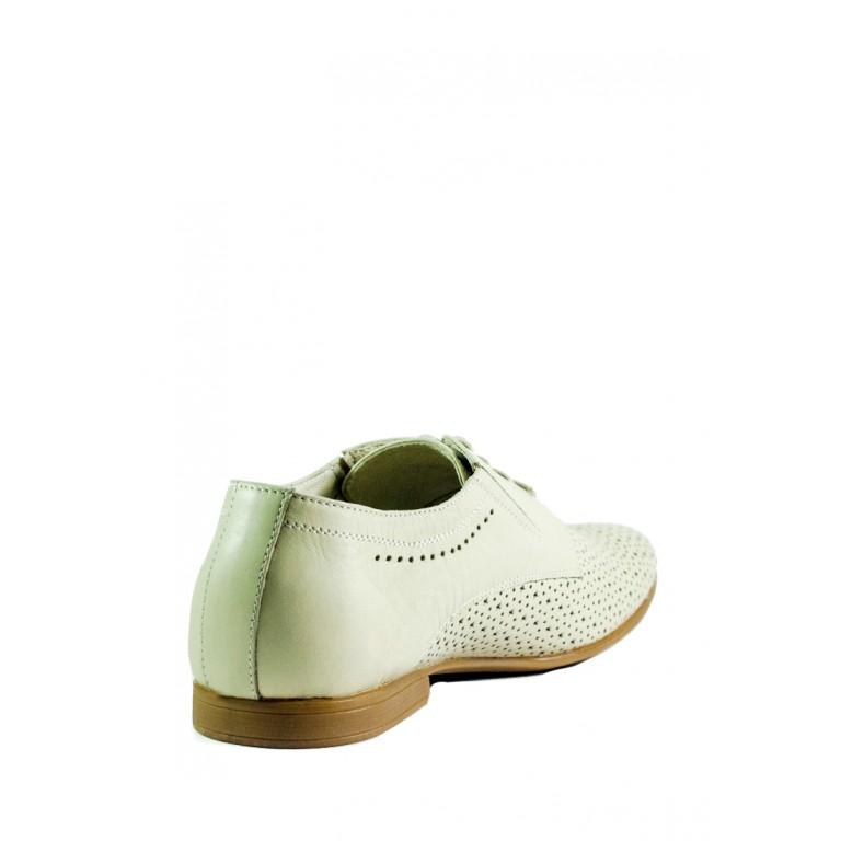 Туфли мужские MIDA 13885-14 молочные
