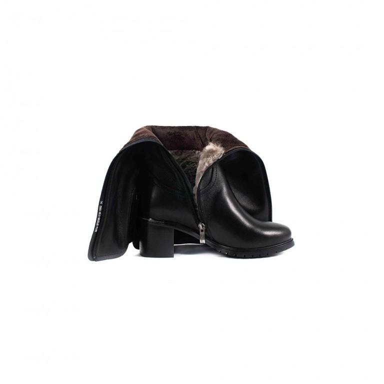 Сапоги зимние женские Anna Lucci 4M14-2F3296-318-1062 черная кожа