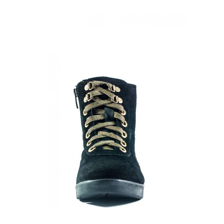 Ботинки зимние подросток MIDA 34186-249Ш черные