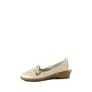 Туфли женские Allshoes 77299 бежевая кожа