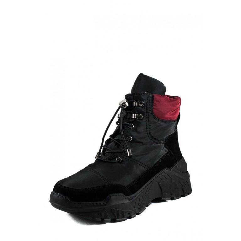 Ботинки зимние женские Lonza 1627-S729 черные