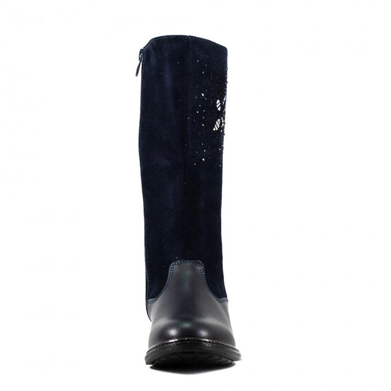 Сапоги подростковые Сказка R03536006 темно-синие