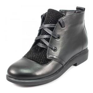 Ботинки демисез женск Julaneli Б-56 черная кожа