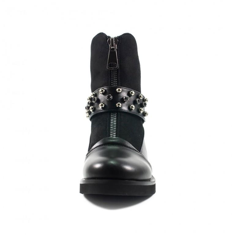 Ботинки демисезон женские Fabio Monelli T731-K397 черные