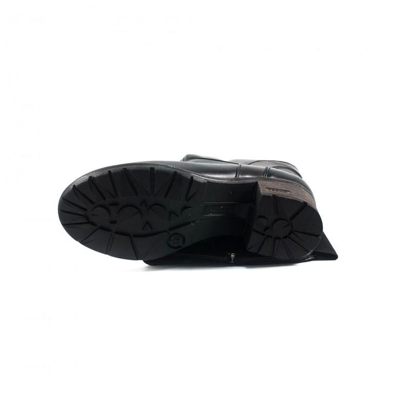 Сапоги зимние женские SND SDZ543 черная кожа