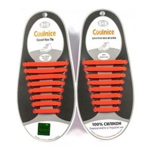 Аксессуары для обуви Coolnice Силиконовые шнурки 8х8 красные.