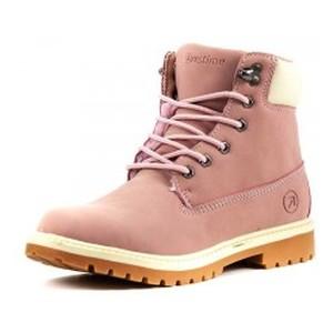 Ботинки зимние женские Restime KWZ18104 розовые