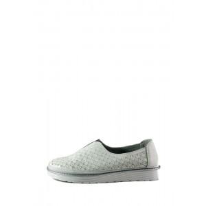 Мокасины женские Allshoes 17505-7K белые