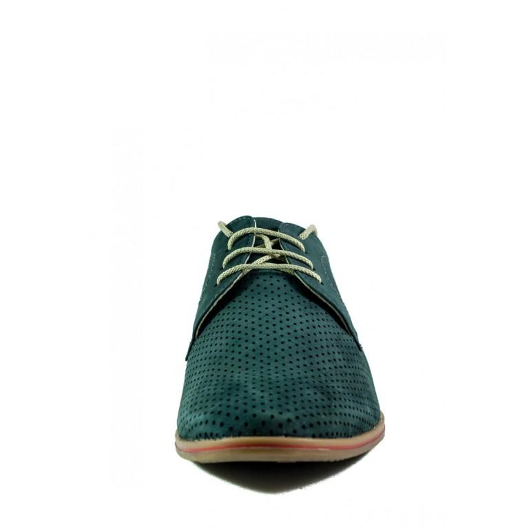 Туфли мужские MIDA 13081-78 аквамарин нубук