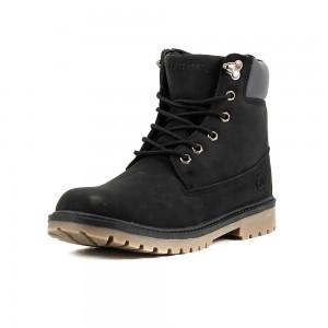 Ботинки зимние женские Restime KWZ18104 черный нубук