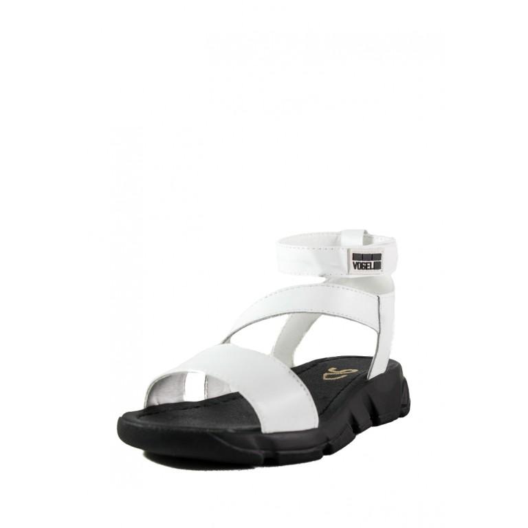 Сандалии женские SND 22675-1 черно-белые