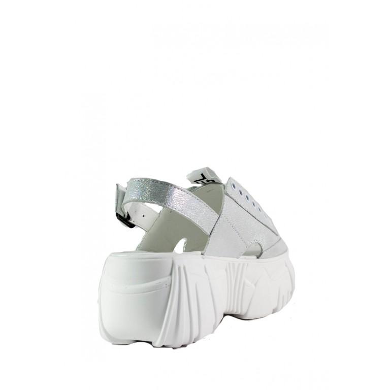 Босоножки женские летние SND 22719-293 серебряные