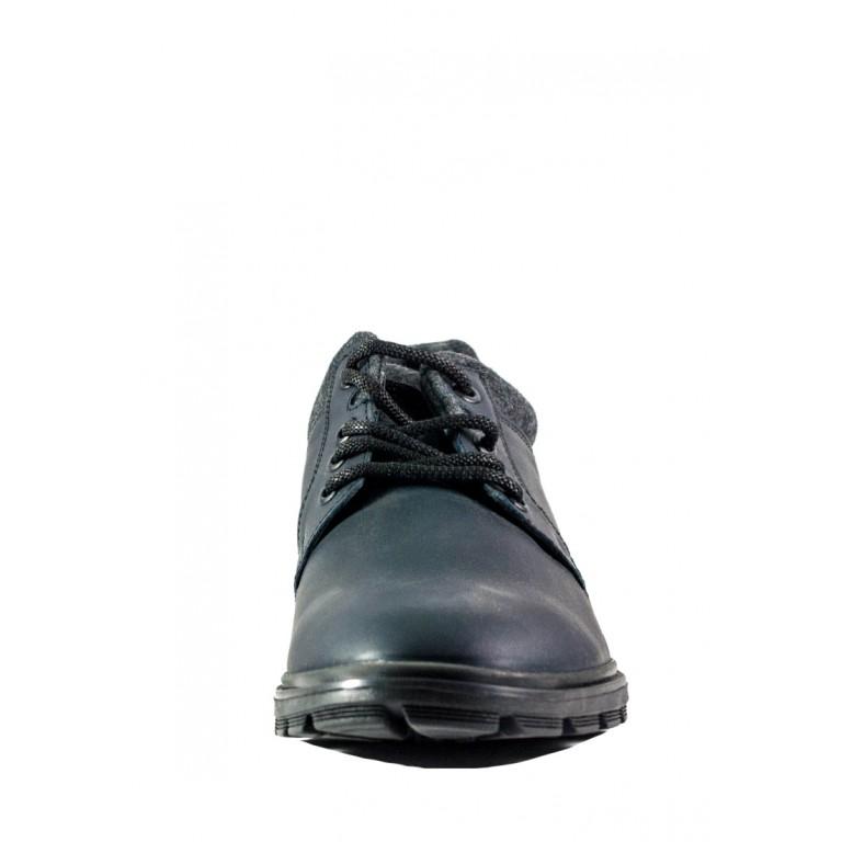 Туфли мужские MIDA 110727-4 черно-серая кожа