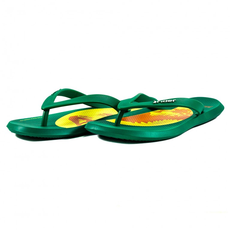 Шлепанцы мужские Rider 82663-20029 зелено-желтые