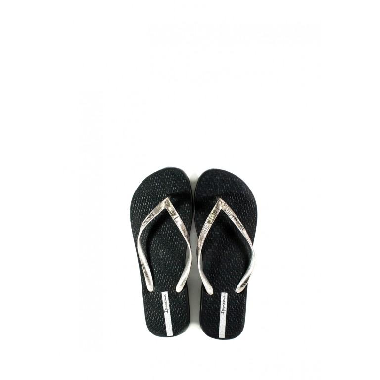 Вьетнамки женские Ipanema 82870-25091 черно-серебряные
