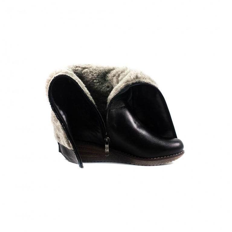 Сапоги зимние женские SND SDZ465 черная кожа