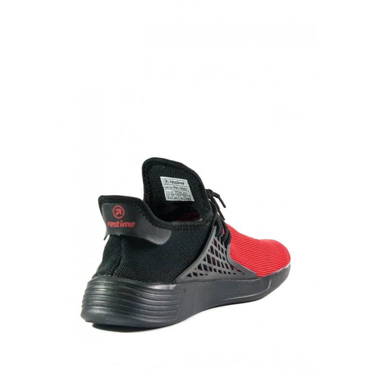Кроссовки подростковые Restime PWL19552 красно-черные