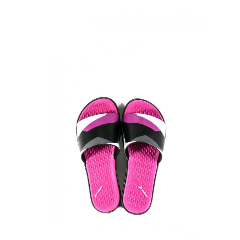 Шлепанцы женские Rider 82611-22267 черно-розовые