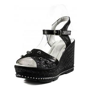 Босоніжки жіночі літні Camelfo чорний 17391